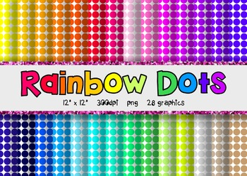 Polka Dot Digital Paper Set 2 - Rainbow Brights {28}