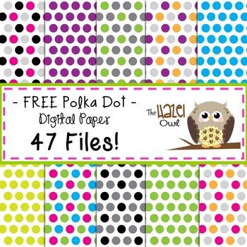FREE Digital Papers: Polka Dots