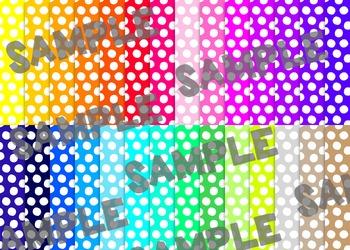 Polka Dot Digital Paper Set 1 - Rainbow Brights {28}