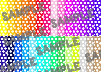 Polka Dot Digital Paper Set 1 - Rainbow Brights {28}