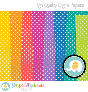 Polka Dot Digital Papers 1