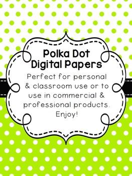 Polka Dot Digital Papers