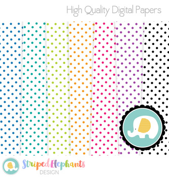 Polka Dot Digital Papers 2