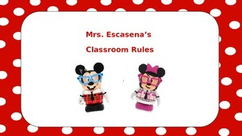 Polka Dot Disney Nerds Class Rules Preview