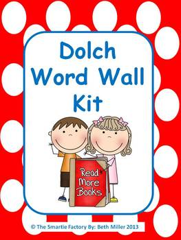 Dolch Word Wall Packet (All 220 Dolch Words plus extras): EDITABLE (Polka Dot)