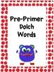 Polka Dot Dolch Word Wall Kit