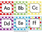 Word Wall Labels and Decor Packet: EDITABLE (Polka Dot)