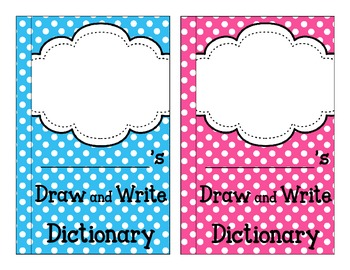 Polka Dot Draw and Write Dictionary