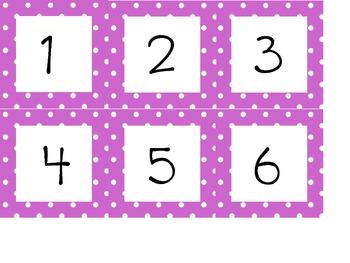 Polka Dot Drawer Numbers {FREE!!!}