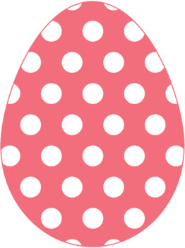 Polka Dot Easter Eggs {Clip Art}