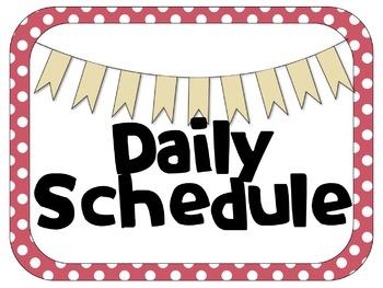 Polka Dot Editable Daily Schedule | Digital & Analog