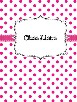 Polka Dot {Editable} Teacher Binder
