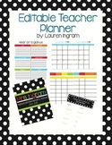 Polka Dot Editable Teacher Planner
