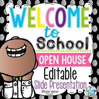 Polka Dot Editable Welcome & Open House Powerpoint Presentation