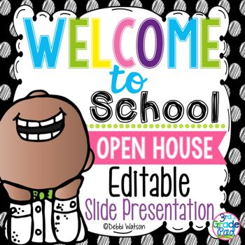 Polka Dot Editable Welcome & Open House Powerpoint Presentation
