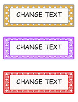 Polka Dot Editable Word Documents