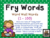 "Polka Dot First 100 ""Ready Made"" Fry Word List Word Wall Cards!"