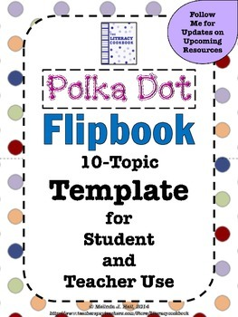 Polka Dot Flip Book 10-Topic Template
