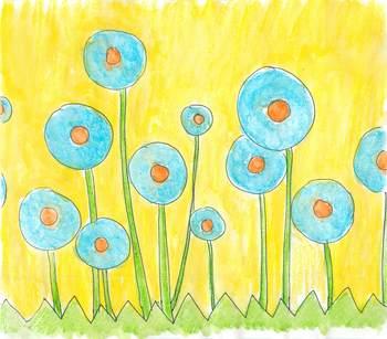 Polka Dot Flower Clip Art