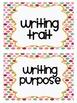 Polka Dot Focus Wall Header Cards Reading Writing Common Core