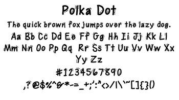 Polka Dot Font