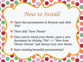 Polka Dot Frame Keynote Theme--Easy to Install!