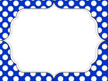 Polka Dot Frames Basic Colors