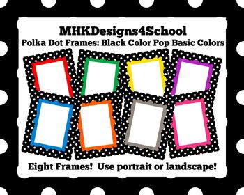 Polka Dot Frames: Black Color Pop