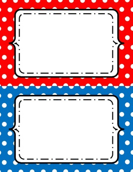 Polka Dot Frames - Half Page Size 8.5x5.5