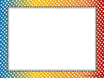 Polka Dot Frames - Rainbow Collection Vol 2