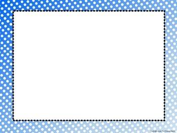 Polka Dot Frames - Shades of Blue Collection Volume 1