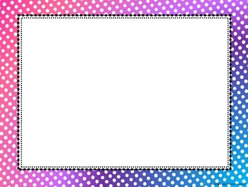 Polka Dot Frames - Summer Collection Vol 3