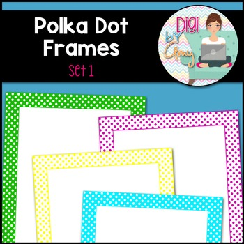 Polka Dot Frames and Borders Clip Art