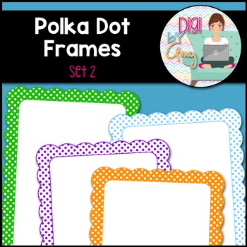 Polka Dot Frames and Borders Clip Art by Digi by Amy | TpT