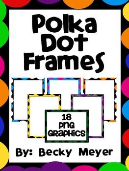 Polka Dot Frames and Task Card Templates