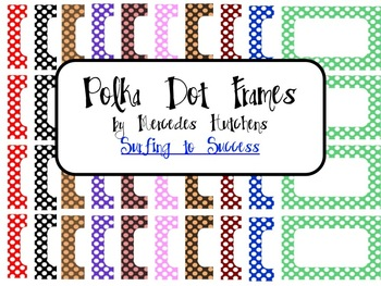 Polka Dot Frames for Label or Cards