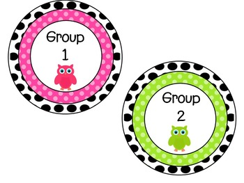 Polka Dot Free Reading Group Labels