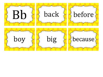 Polka Dot Fry's 2nd 100 Word Cards