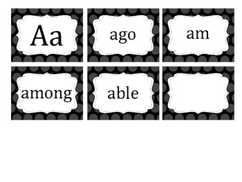 Polka Dot Fry's 5th 100 Word Cards