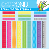 Polka Dot Fun Digital Ribbons