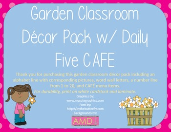 Garden Decor Bundle + Daily Five CAFE (Kindergarten)