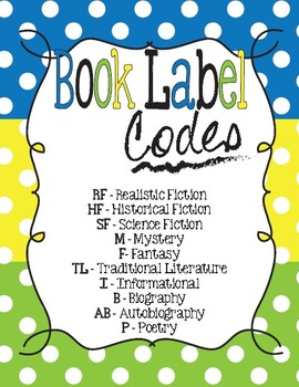 Polka Dot Genre and AR Classroom Library Kit - 3 Sets-Now Editable