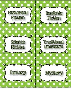 Polka Dot Genre and AR Classroom Library Kit - 3 sets - Now Editable