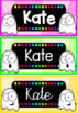 Back to School - Polka Dot Ghost Name Labels