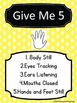 Polka Dot Give Me 5 Posters Set