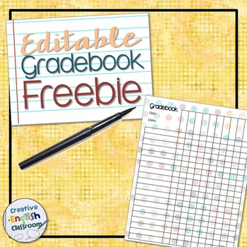 Free Polka Dot Gradebook Template By Distinguished English  Tpt