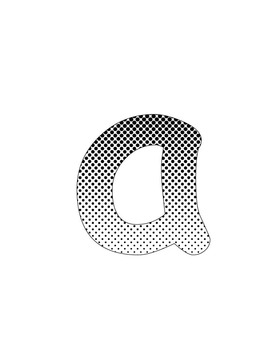 Polka Dot Gradient Bulletin/ display letters and numbers (Printable)