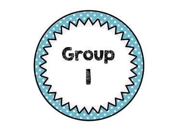 Polka Dot Group Labels