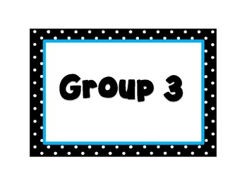 Polka Dot Group Number Posters