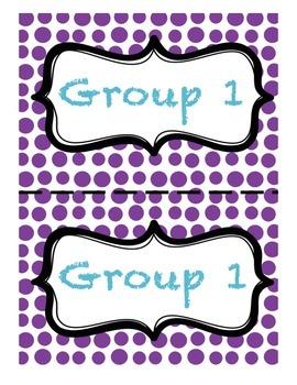 Polka Dot Group Signs
